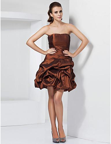 robe bustier boule à court / mini robe de cocktail en taffetas