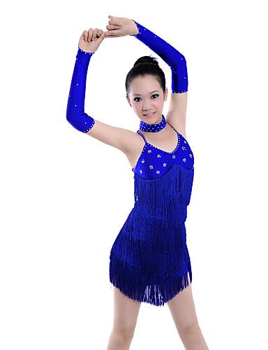 Women's Spandex With Fringe/Beading Latin Dance Performance Dress