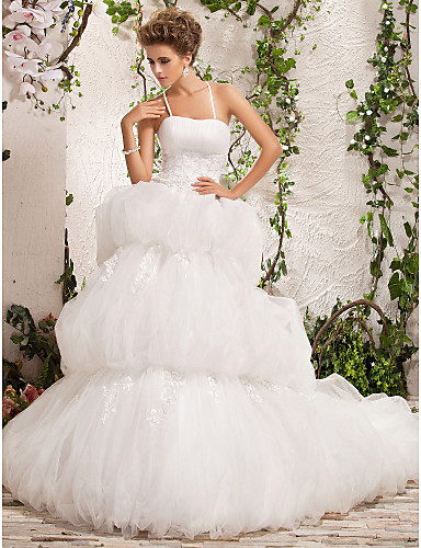 billige Høst 2014-DEIDRA - kjole til Bryllupskjole i Satin og tulle