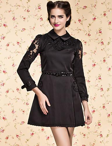 ts do vintage vestido bordado da flor (mais cores)