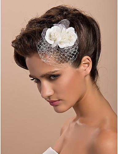 Tule Cristal Tecido Tiaras Fascinadores Flores 1 Casamento Ocasião Especial Festa / Noite Casual Ao ar livre Capacete