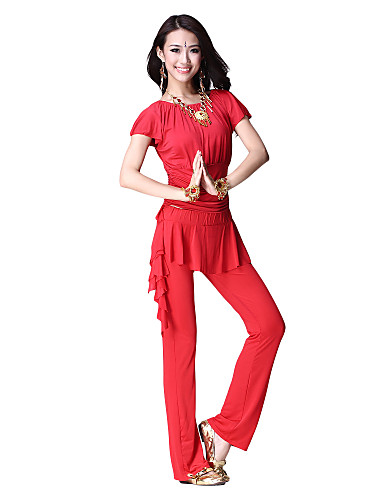 Dancewear Viscose Belly Dance Top and Bottom for Ladies