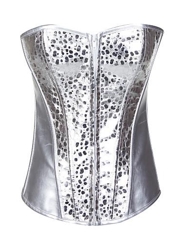 sjarmerende pu stroppeløs foran glidelås korsett shapewear sexy undertøy shaper