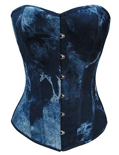 رخيصةأون الأزياء التنكرية التاريخية والقديمة-نسائي يثبت مشد لوليتا أزرق لون متغاير اكسسوارات لوليتا