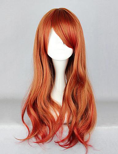 voordelige Cosplay Pruiken-Cosplaypruiken Dames 26 inch(es) Hittebestendige vezel Oranje Anime