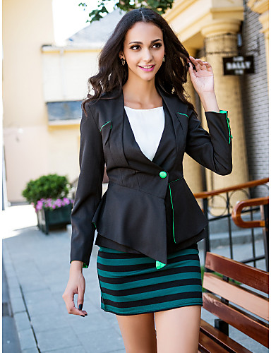 Women's Classic & Timeless Blazer-Solid Color,Formal Style