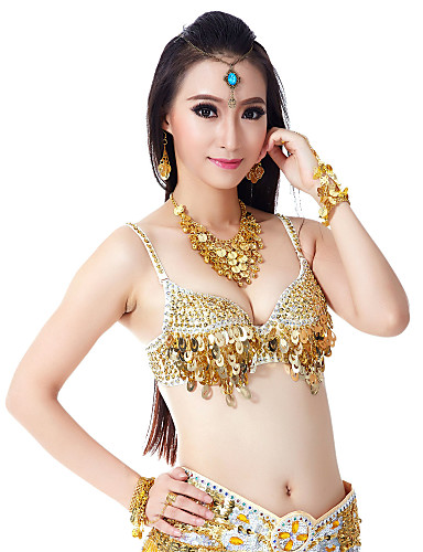 Belly Dance Tops Women's Training Polyester Beading / Sequin / Performance