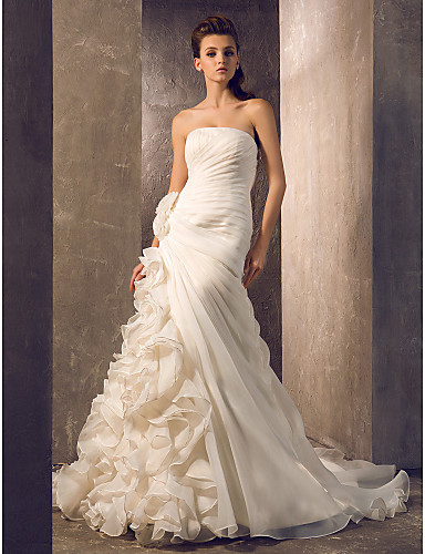a7c2c101 Havfrue Petit Plus Størrelser Brudekjole - Elegant og luksuriøs Glamorøs &  Dramatisk To-I-