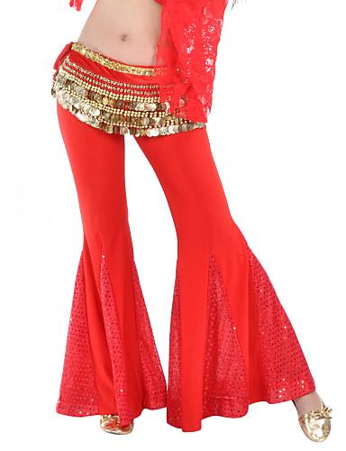 Dans din Buric Pantaloni Pentru femei Antrenament Poliester Paietat 1 Bucată Pantaloni