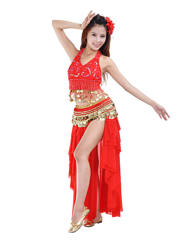 Dans din Buric Fuste Pentru femei Performanță Antrenament Poliester Drapat Straturi 1 Bucată Natural Fustă