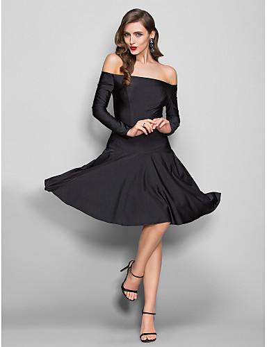 Eng anliegend Leger & Aufgebauscht Schulterfrei Knie-Länge Jersey Abschlussball Kleid mit Plissee durch TS Couture®