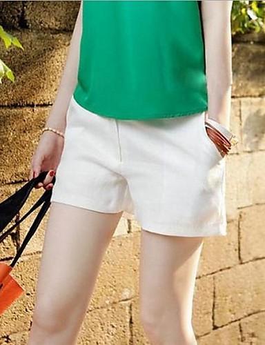 Dámské Na běžné nošení Lehce elastické Džíny Kalhoty Mid Rise Polyester Jednobarevné Léto