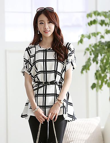 Můller Mřížky Chiffon Loose Shirt (White)