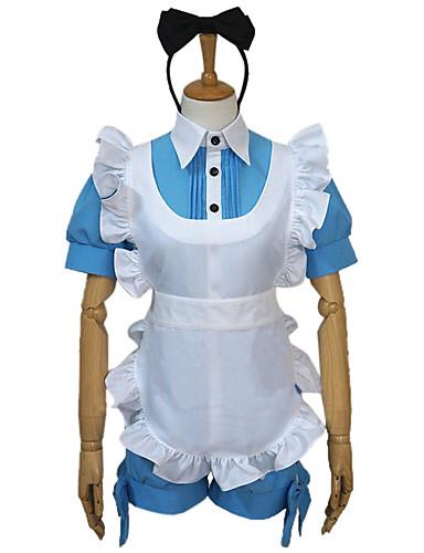 billige Anime Kostumer-Inspireret af Sort Butler Ciel Phantomhive Anime Cosplay Kostumer Cosplay Kostumer Patchwork Top / Hovedstykke / Forklæde Til Dame