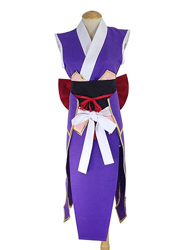 baratos Fantasias Anime-Inspirado por Fairy Tail Erza Scarlet Anime Fantasias de Cosplay Japanês Ternos de Cosplay / Chimono Retalhos Avental / Cinto / Arco Para Mulheres