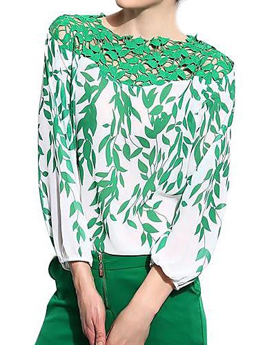 Dame - Blomstret Bluse Polyester