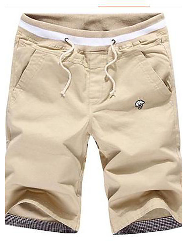 Men's Cotton Slim Shorts Pants - Solid Colored