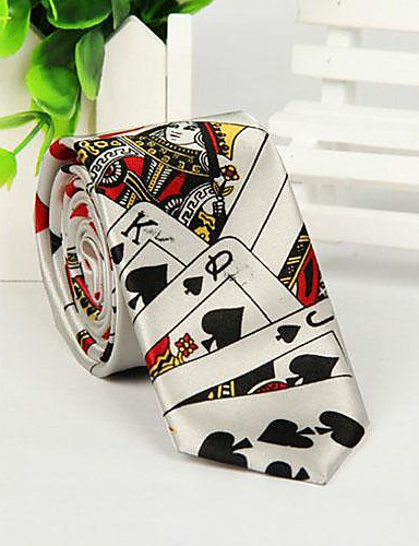 Men Casual Neck Tie,Polyester Print All Seasons