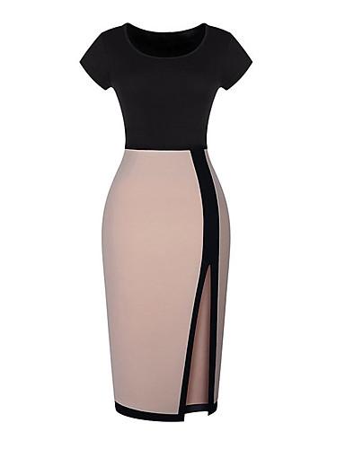 Монта сексуальная соответствия по хип Slim Fit с коротким рукавом платье