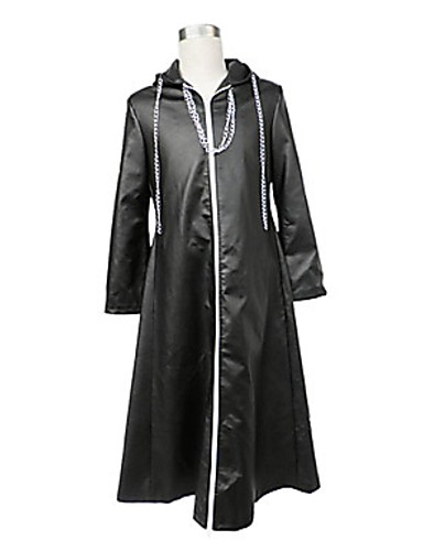 cheap Videogame Costumes-Inspired by Kingdom Hearts Cosplay Video Game Cosplay Costumes Cosplay Suits Solid Colored Cloak Costumes