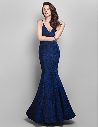 69d024fd5f4 Mermaid   Trumpet V Neck Floor Length Jersey Formal Evening Dress with  Pleats by TS Couture® 1049257 2019 –  129.99