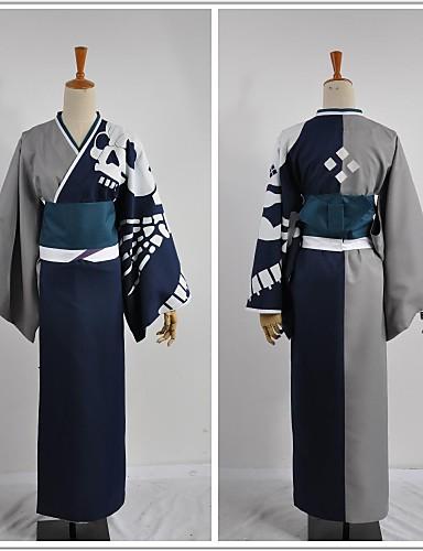 abordables Disfraces de Videojuegos-Inspirado por Cosplay Cosplay Vídeo Juego Disfraces de cosplay Trajes Cosplay Retazos Manga Larga Guantes Cinturón Chaqueta de Kimono Disfraces