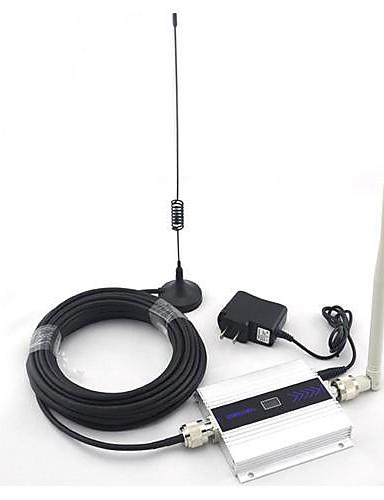 povoljno Zaštita i sigurnost-LCD ekran mini dcs 1800mhz mobitel pojačavač signala pojačavač pojačalo + usisna antena s 10m kablom 2g 3g 4g za kuću i zgradu