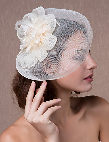 cheap Wedding Accessories-Crystal / Fabric / Organza Tiaras / Fascinators / Flowers with 1 Wedding / Party / Evening Headpiece / Hats