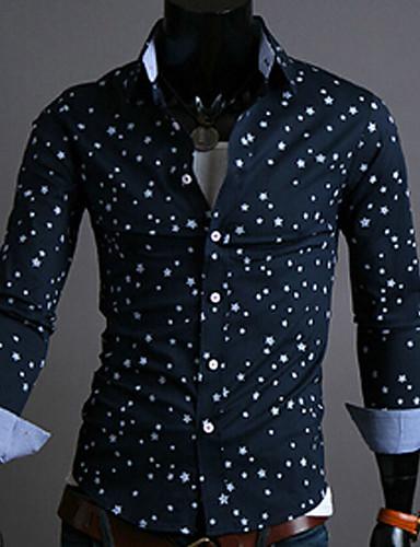 les ventes en gros mignonne bas prix la mode imprimé étoiles à manches longues chemise homme ...