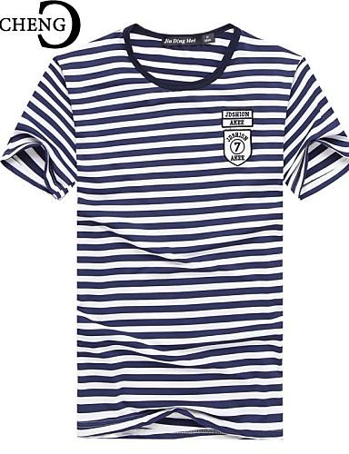 T-shirt Per Uomo Sportivo, Tinta Unita - A Strisce Rosso L - Manica Corta - Estate #02596853
