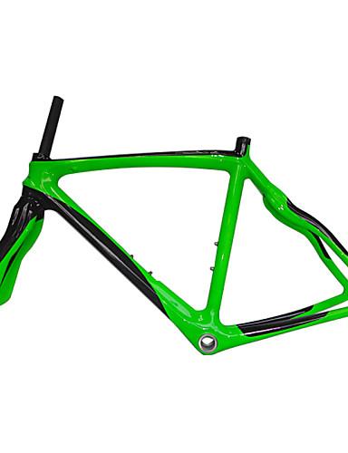 billige sykkelens ramme-Veiramme Full Karbon Sykkel Ramme 700C Glanset 3K cm tommers