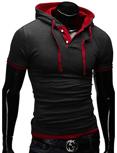 Men's Long Sleeves Hoodie - Solid Colored