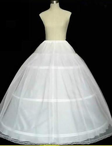 abordables Dessous de Robe de Mariage-Déshabillés Robe trapèze Robe de soirée longue Chapelle Ras du Sol 2 Filet de tulle Blanc