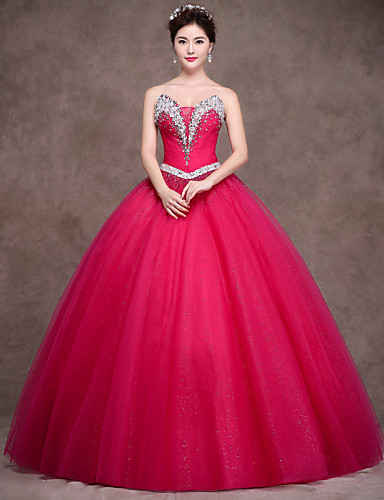 Ball Gown Princess Strapless Floor Length Satin Tulle Stretch Satin Formal Evening Dress with Crystal Detailing Sash / Ribbon Side Draping