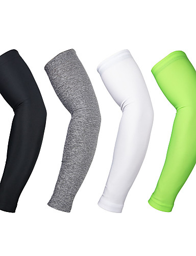cheap Cycling-Arsuxeo Sleeves Red Blue Light Green Winter Thermal / Warm Breathable Quick Dry Golf Leisure Sports Baseball Unisex Solid Color Polyester Spandex / Anatomic Design / High Elasticity / Anatomic Design
