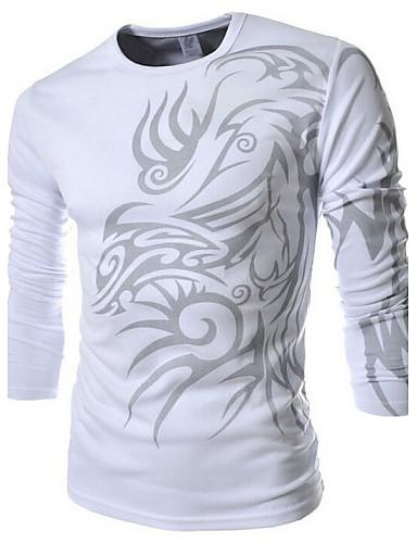 Ανδρικά T-shirt Αθλητικά Μπόχο Στρογγυλή Λαιμόκοψη Στάμπα