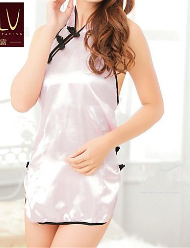 Ultrasexy Uniformer og kinesiske kjoler Nattøy, Lapper Polyester Skjermfarge