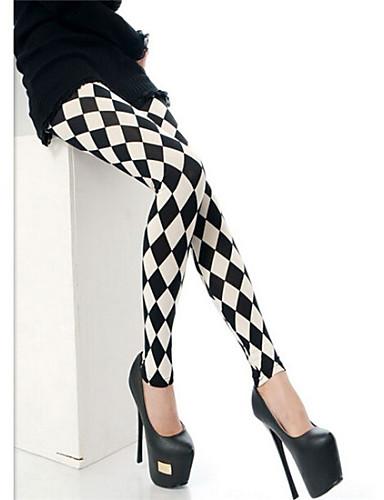 Women's Cotton Blend Medium Print Legging Black