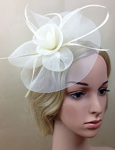 cheap Wedding Accessories-Net Fascinators / Flowers with 1 Wedding / Special Occasion Headpiece