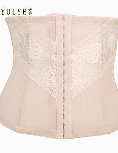 Göğüs Üstü Korse / Korse Setleri Yatak kıyafeti Jakarlı Naylon / Spandeks Bej Kadın