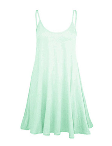 Women's Vintga Sexy Casual Cute, Above Knee Sleeveless Round Neck Ruched Dress(Chiffon)
