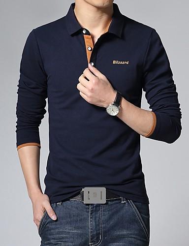 Polo Grandes Tailles Homme, Couleur Pleine - Coton Imprimé Actif Mince