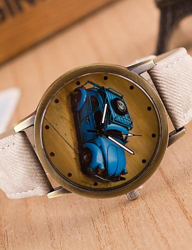 Homens Quartzo Relógio de Pulso / Venda imperdível Couro Banda Vintage Casual Preta Branco Azul Vermelho Marrom Verde Cinza Rosa Amarelo