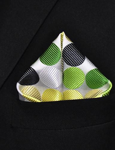 Men's Rayon Cravat & Ascot,Casual Dots Winter Spring Summer Fall All Seasons Light Green