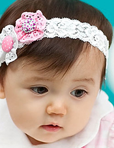 Kid's Double Flowers Lace Headband