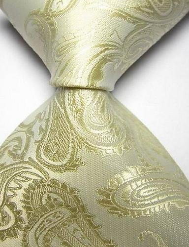 Men Wedding Cocktail Necktie At Work Black Yellow Flower Tie