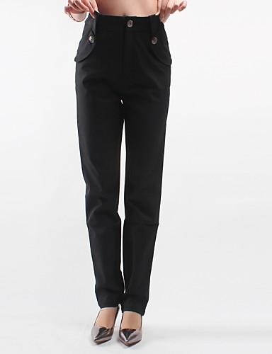 Mulheres Clássico Jeans Calças - Sólido