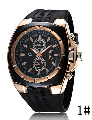 Women's Quartz Sport Watch Casual Watch Plastic Band Fashion Cool Black