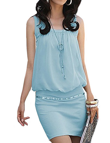 Women's Sheath Dress - Solid Colored Low Rise Mini