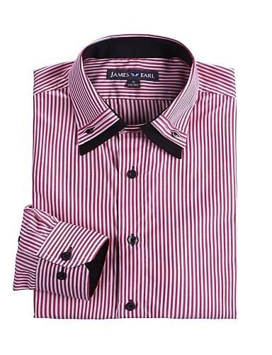 JamesEarl 남성 셔츠 카라 긴 소매 셔츠 & 블라우스 실버 - DA112046301
